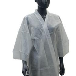 Kimono aus Vliesstoff weiss, 30gr/m2, 10 Stk.