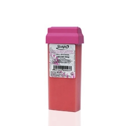 Roll-On Wachspatrone 110 gr. pink, grosse Rolle