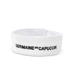 Stirnband weiss mit GdC-Aufschrift schwarz